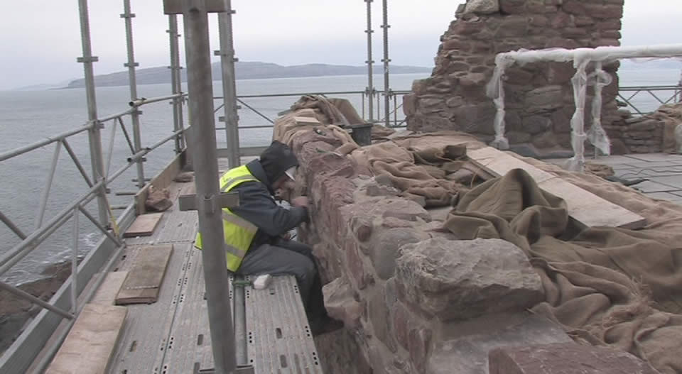 Stonemason at work